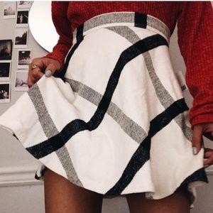 NEW urban plaid skirt